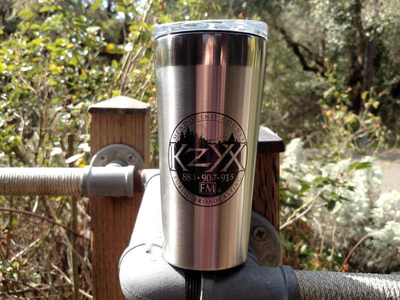 KZYX 18 oz. Stainless Steel Insulated Travel Mug ($100 Donation)