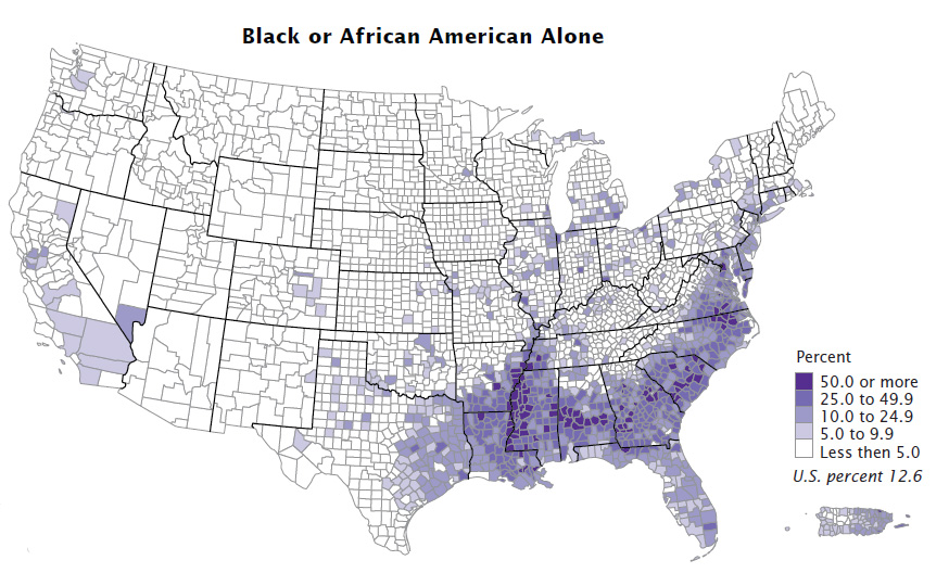 Census releases numbers on the black population in the US