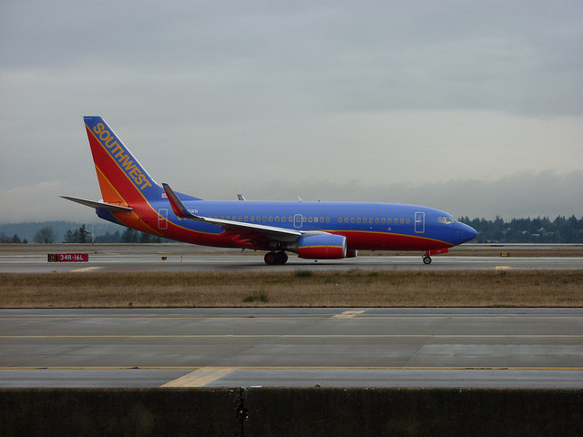 South West Airlines at the Gate