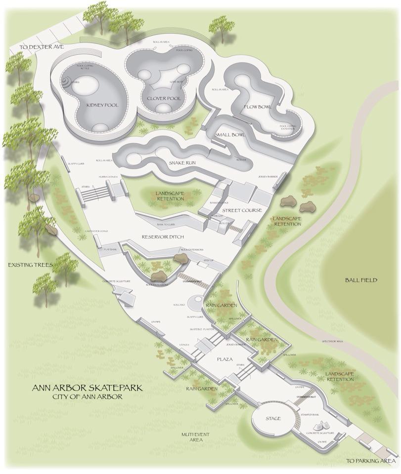 Arbor Park: Ann Arbor Approves Skatepark, Shredding Will Commence