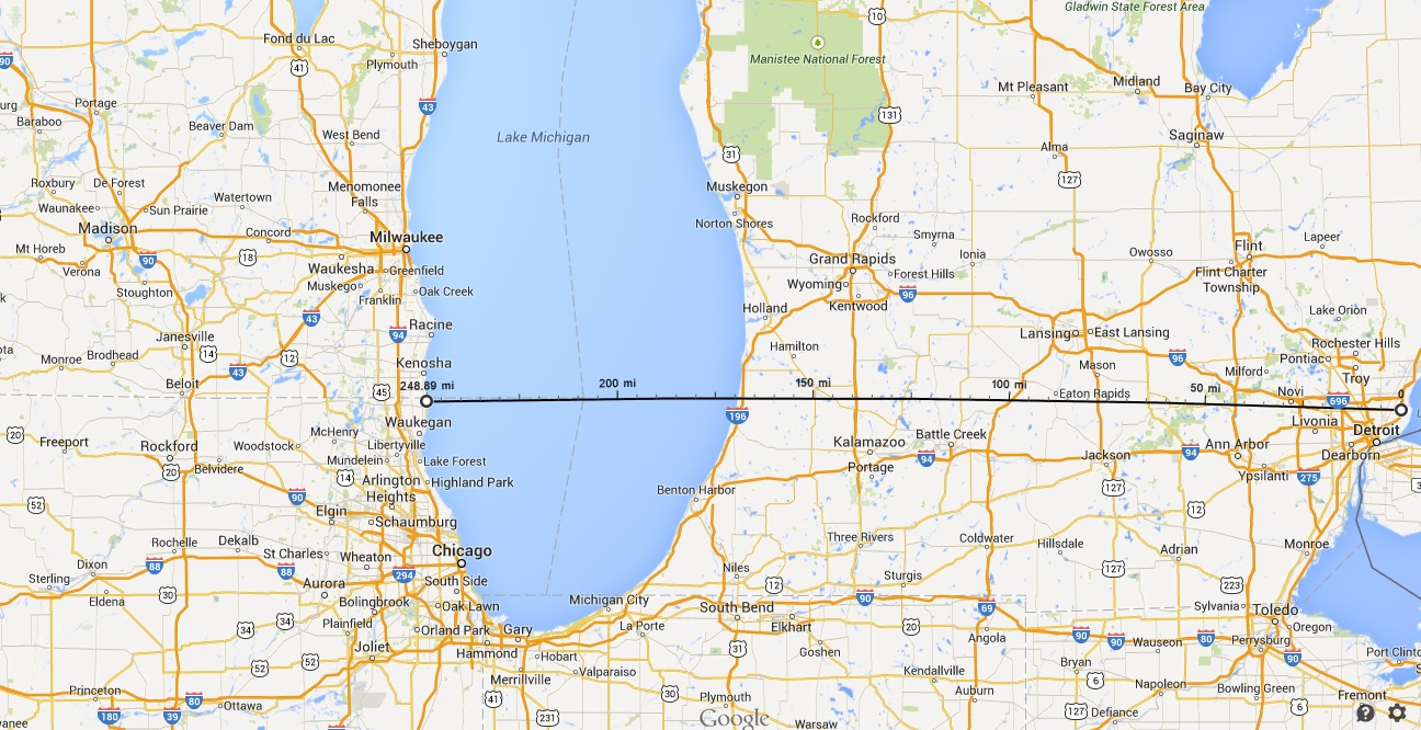 Mile road is eight miles from where michigan radio