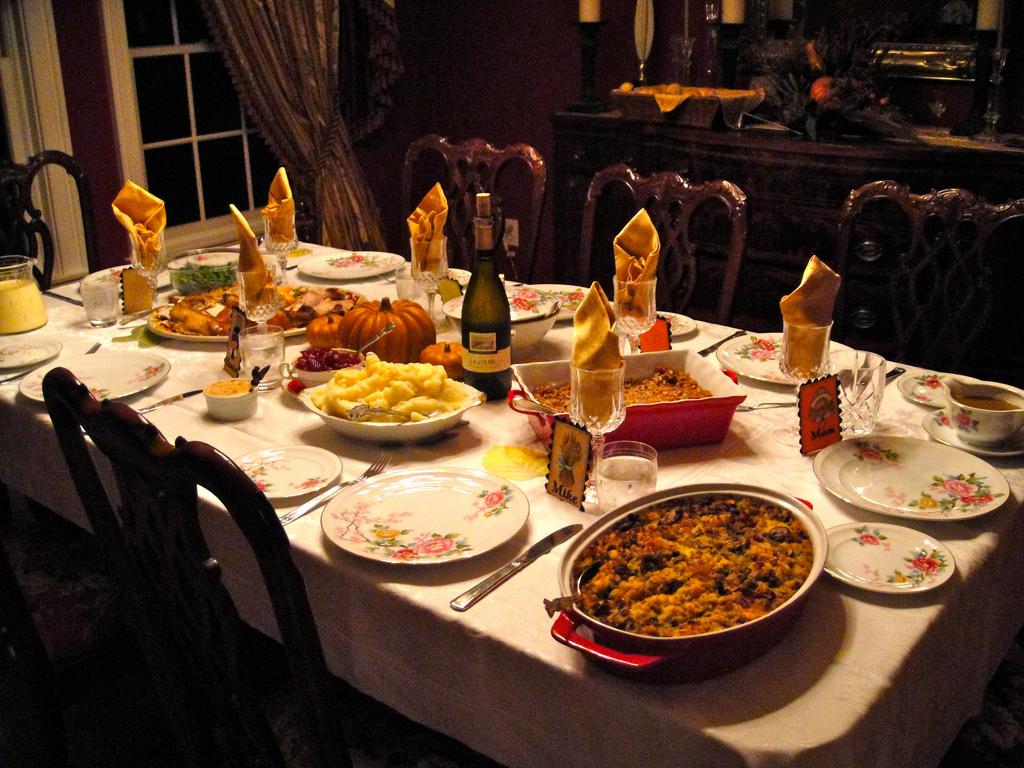 Dinner table with food - Dinner Table With Food 20