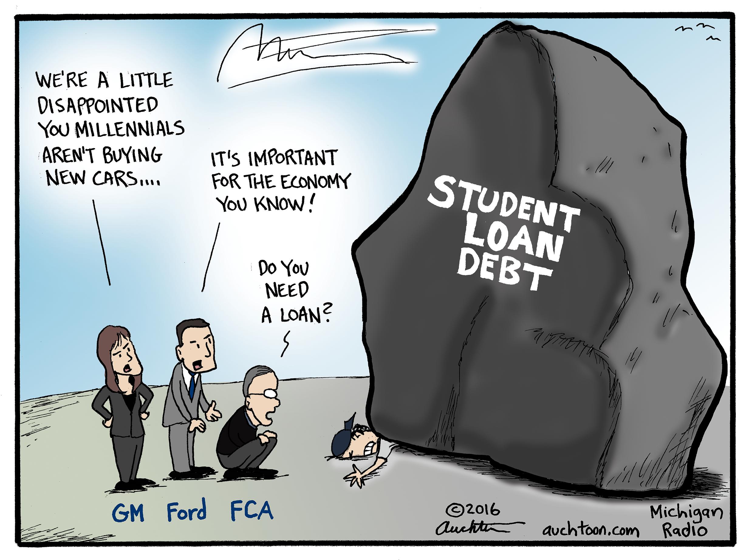 the pyramid of student loan debt | michigan radio