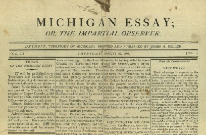 How A Language Snafu Shut Down Michigans First Newspaper After Just  How A Language Snafu Shut Down Michigans First Newspaper After Just One  Issue