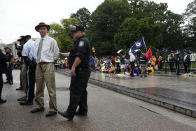 James Hansen being arrested in Washington D.C.