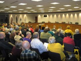 Residents packed Holland City Hall for the Human Relation Commission meeting Thu