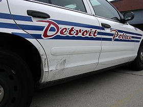 A Detroit police car