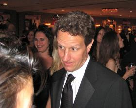 Timothy Geithner at the White House Correspondents Dinner in 2009