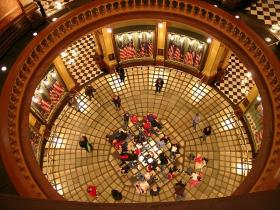 Glass floor inside the Michigan Capitol