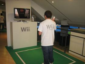 Person playing Wii