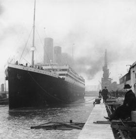 RMS Titanic at the docks
