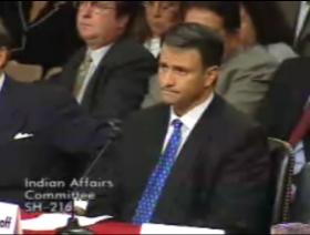 Jack Abramoff testifying at a Senate Indian Affairs Committee Hearing