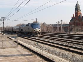 Amtrak train near Chicago