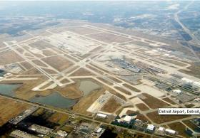 The runways at Detroit Metro Airport