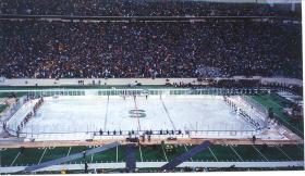 &quot;The Cold War&quot; ice hockey game at Spartan Stadium
