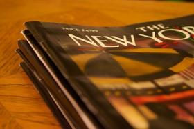 A stack of The New Yorker magazines