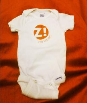 &quot;Feel the Zeel&quot; onesies