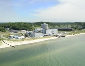 Palisades Nuclear Power Plant on Lake Michigan near South Haven, Michigan.