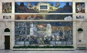 The Diego Rivera mural at the DIA. The museum had a good week after their millage passed in three counties.