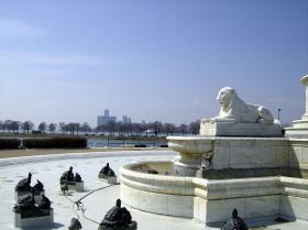 The James Scott Memorial Fountain on Belle Isle Park.