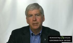 Michigan Gov. Rick Snyder voices his opinion on the ballot proposals.