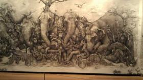 &#039;Elephants&#039; by Adonna Khare - 2012 ArtPrize winner.