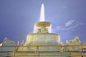 The Scott fountain on Belle Isle