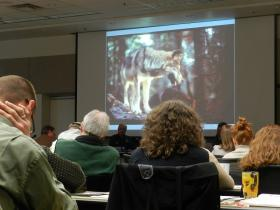 The Michigan Natural Resources Commission meets about a wolf hunt in Michigan.