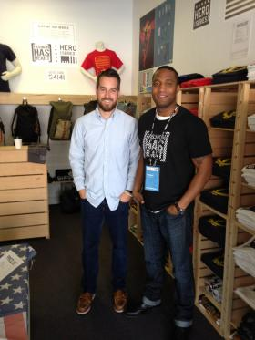 Tyler Way and Michael Hyacinthe, co-founders of Fashion Has Heart.