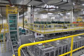 A123 Systems Inc.&#039;s battery manufacturing facility in Livonia, Michigan. The company filed for bankruptcy on Tuesday. 