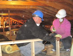 Building a knee wall in an attic