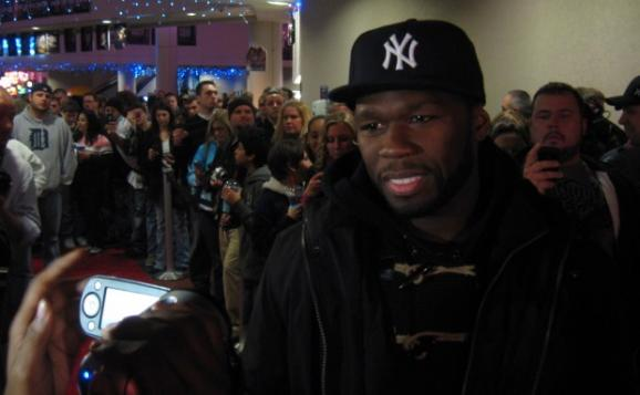 Rapper Curtis Jackson &quot;50 cent&quot; gets the red carpet treatment for the premier in