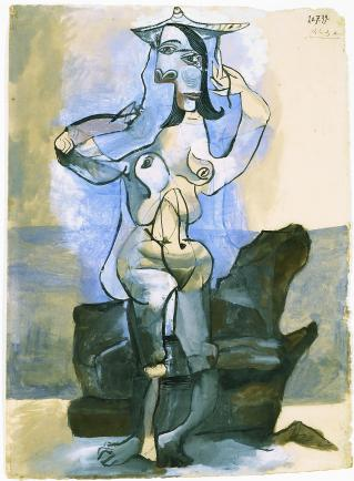 Picasso - Bather by the Sea, 1939