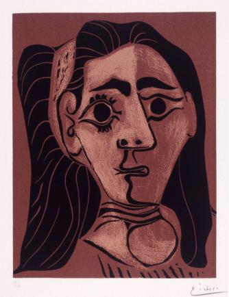Picasso - Jacqueline with Hair Band, II, 1962