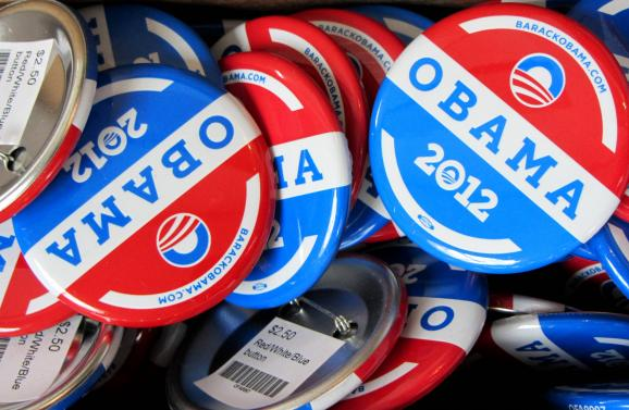 Buttons for sale at the Democratic National Convention in Charlotte, N.C.