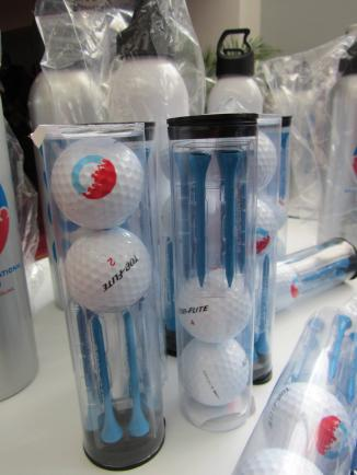 Golf balls at the DNC.