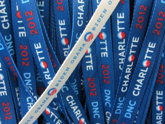 Lanyards at the DNC.