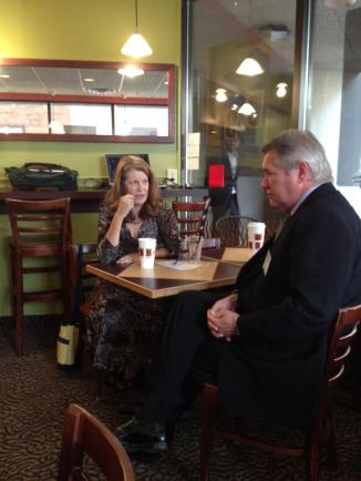 Lester Graham shares conversation and coffee with Kathy Hoffman at Biggby in Lansing.