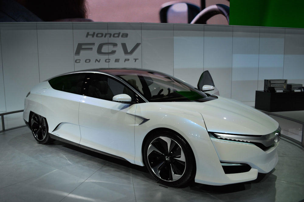 Honda's FCV Clarity concept at last years Detroit auto show in 2014. (PAIGE PFLEGER / MICHIGAN RADIO)