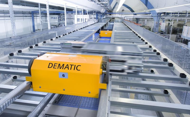 Dematic Corportation designs and manufactures a variety of logistical systems.