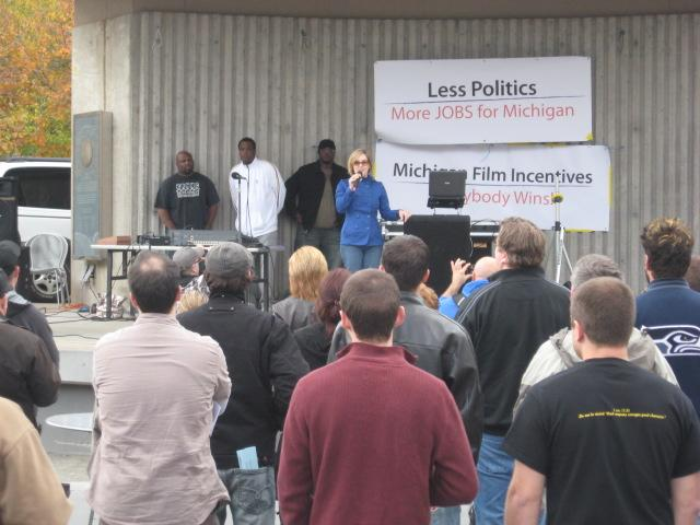 Rally for film incentives in Grand Rapids