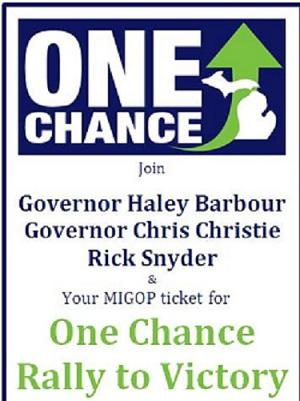 Once Chance to Victory Rally Flyer