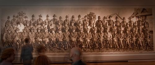 "A photo of Chris LaPorte's winning piece ""Cavalry, American Officers, 1921"""