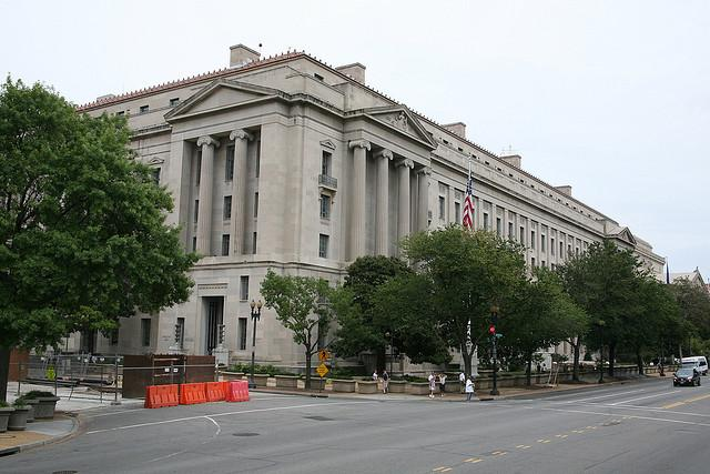 Department of Justice building in Washington D.C.