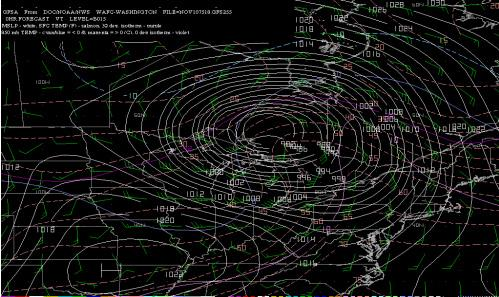 The storm that sank the Edmund Fitzgerald