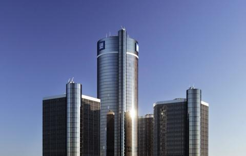 GM Renaissance Center in Detroit.