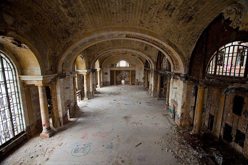 The inside of Michigan Central Train Station