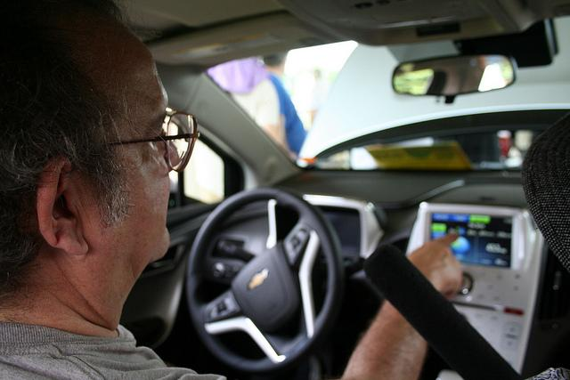 Inside the Chevy Volt electric vehicle