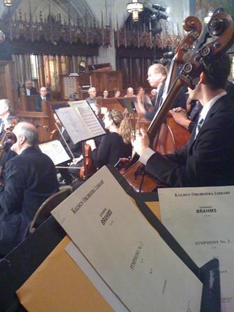 Musicians perform