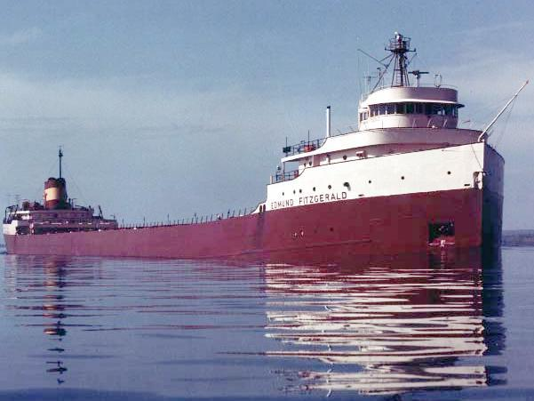 The SS Edmund Fitzgerald in May of 1975.